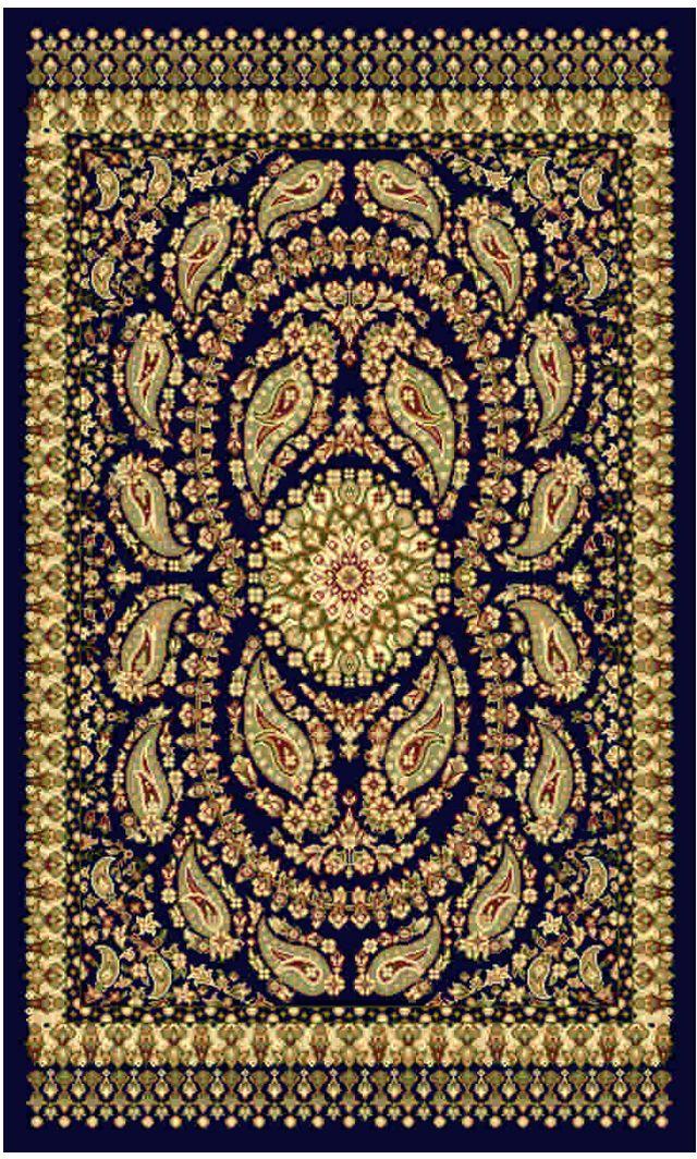 Ковер Kamalak tekstil, прямоугольный, цвет: синий, 60 x 110 см. УК-0165FS-80418Ковры-паласы выполнены из полипропилена. Ковры обладают хорошими показателями теплостойкости и шумоизоляции. Являются гиппоалергенными. За счет невысокого ворса ковры легко чистить. Вам придется по душе широкая гамма цветов и возможность гармонично оформить интерьер. Практичный и устойчивый к износу ворс - от постоянного хождения не истирается, не накапливает статическое электричество. Структура волокна в полипропиленовых моделях гладкая, поэтому грязь не может выесться, на ворсе она скапливается с трудом. Полипропилен не впитывает влагу, отталкивает водянистые пятна. Уход: Самый простой способ избавить изделие от грязи – пропылесосить его с обеих сторон (лицевой и изнаночной).Влажная уборка с применением шампуней и моющих средств не противопоказана. Если шерсти и шёлку универсальные чистящие составы не подходят, то для синтетики они придутся в самый раз.Хранить их нужно рулоном, не складывая «салфеткой».При надлежащем уходе синтетический ковёр прослужит долго, не утратив ни яркости узора, ни блеска ворса, ни его упругости.
