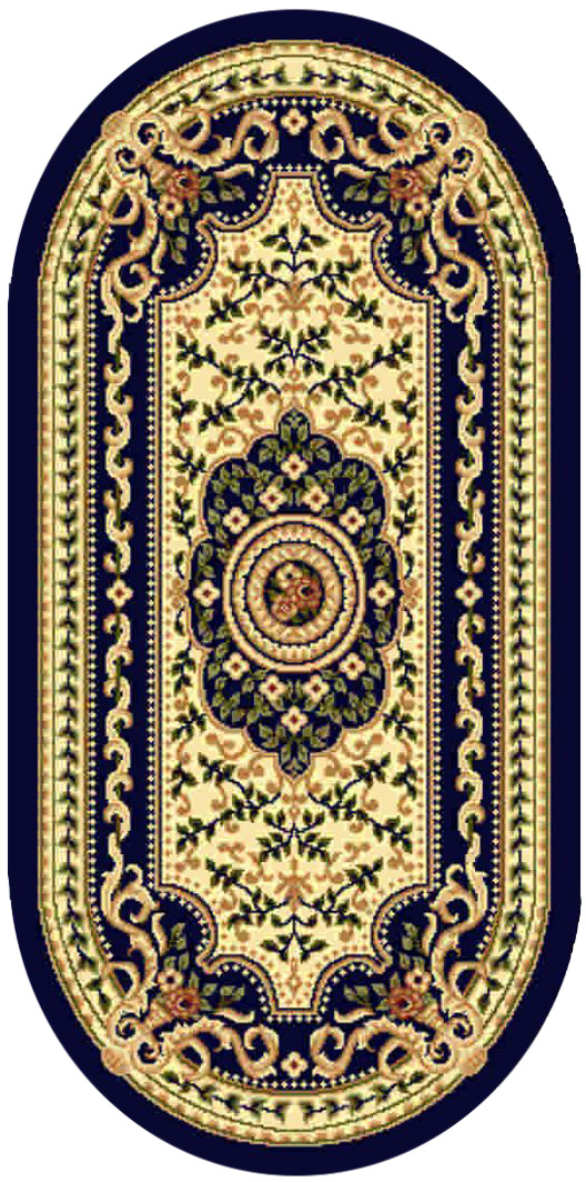 Ковер Kamalak tekstil, овальный, 60 x 110 см. УК-0405ES-412Ковер Kamalak Tekstil изготовлен из прочного синтетического материала heat-set, улучшенного варианта полипропилена (эта нить получается в результате его дополнительной обработки). Полипропилен износостоек, нетоксичен, не впитывает влагу, не провоцирует аллергию. Структура волокна в полипропиленовых коврах гладкая, поэтому грязь не будет въедаться и скапливаться на ворсе. Практичный и износоустойчивый ворс не истирается и не накапливает статическое электричество. Ковер обладает хорошими показателями теплостойкости и шумоизоляции. Оригинальный рисунок позволит гармонично оформить интерьер комнаты, гостиной или прихожей. За счет невысокого ворса ковер легко чистить. При надлежащем уходе синтетический ковер прослужит долго, не утратив ни яркости узора, ни блеска ворса, ни упругости. Самый простой способ избавить изделие от грязи - пропылесосить его с обеих сторон (лицевой и изнаночной). Влажная уборка с применением шампуней и моющих средств не противопоказана. Хранить рекомендуется в свернутом рулоном виде.
