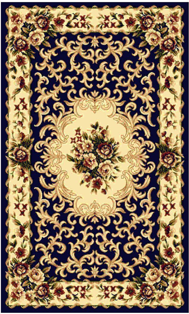 Ковер Kamalak tekstil, прямоугольный, цвет: синий, 100 x 150 см. УК-0010WUB 5647 weisКовры-паласы выполнены из полипропилена. Ковры обладают хорошими показателями теплостойкости и шумоизоляции. Являются гиппоалергенными. За счет невысокого ворса ковры легко чистить. Вам придется по душе широкая гамма цветов и возможность гармонично оформить интерьер. Практичный и устойчивый к износу ворс - от постоянного хождения не истирается, не накапливает статическое электричество. Структура волокна в полипропиленовых моделях гладкая, поэтому грязь не может выесться, на ворсе она скапливается с трудом. Полипропилен не впитывает влагу, отталкивает водянистые пятна. Уход: Самый простой способ избавить изделие от грязи – пропылесосить его с обеих сторон (лицевой и изнаночной).Влажная уборка с применением шампуней и моющих средств не противопоказана. Если шерсти и шёлку универсальные чистящие составы не подходят, то для синтетики они придутся в самый раз.Хранить их нужно рулоном, не складывая «салфеткой».При надлежащем уходе синтетический ковёр прослужит долго, не утратив ни яркости узора, ни блеска ворса, ни его упругости.
