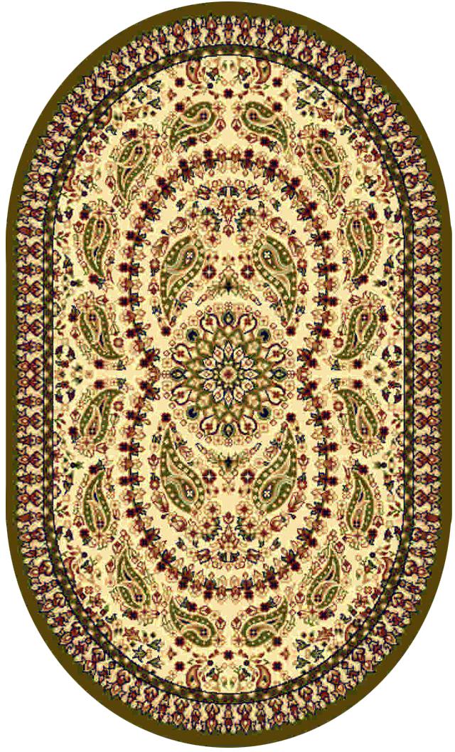 Ковер Kamalak tekstil, овальный, 80 x 150 см. УК-0176ES-412Ковер Kamalak Tekstil изготовлен из прочного синтетического материала heat-set, улучшенного варианта полипропилена (эта нить получается в результате его дополнительной обработки). Полипропилен износостоек, нетоксичен, не впитывает влагу, не провоцирует аллергию. Структура волокна в полипропиленовых коврах гладкая, поэтому грязь не будет въедаться и скапливаться на ворсе. Практичный и износоустойчивый ворс не истирается и не накапливает статическое электричество. Ковер обладает хорошими показателями теплостойкости и шумоизоляции. Оригинальный рисунок позволит гармонично оформить интерьер комнаты, гостиной или прихожей. За счет невысокого ворса ковер легко чистить. При надлежащем уходе синтетический ковер прослужит долго, не утратив ни яркости узора, ни блеска ворса, ни упругости. Самый простой способ избавить изделие от грязи - пропылесосить его с обеих сторон (лицевой и изнаночной). Влажная уборка с применением шампуней и моющих средств не противопоказана. Хранить рекомендуется в свернутом рулоном виде.