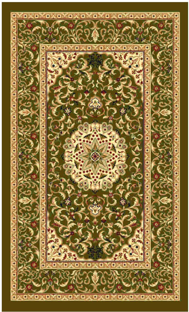 Ковер Kamalak tekstil, прямоугольный, цвет: зеленый, 50 x 100 см. УК-0511ES-412Ковры-паласы выполнены из полипропилена. Ковры обладают хорошими показателями теплостойкости и шумоизоляции. Являются гиппоалергенными. За счет невысокого ворса ковры легко чистить. Вам придется по душе широкая гамма цветов и возможность гармонично оформить интерьер. Практичный и устойчивый к износу ворс - от постоянного хождения не истирается, не накапливает статическое электричество. Структура волокна в полипропиленовых моделях гладкая, поэтому грязь не может выесться, на ворсе она скапливается с трудом. Полипропилен не впитывает влагу, отталкивает водянистые пятна. Уход: Самый простой способ избавить изделие от грязи – пропылесосить его с обеих сторон (лицевой и изнаночной).Влажная уборка с применением шампуней и моющих средств не противопоказана. Если шерсти и шёлку универсальные чистящие составы не подходят, то для синтетики они придутся в самый раз.Хранить их нужно рулоном, не складывая «салфеткой».При надлежащем уходе синтетический ковёр прослужит долго, не утратив ни яркости узора, ни блеска ворса, ни его упругости.