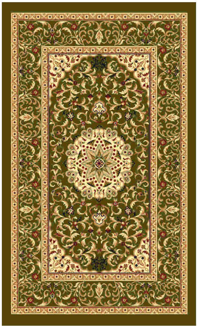 Ковер Kamalak tekstil, прямоугольный, цвет: зеленый, 80 x 150 см. УК-038674-0120Ковры-паласы выполнены из полипропилена. Ковры обладают хорошими показателями теплостойкости и шумоизоляции. Являются гиппоалергенными. За счет невысокого ворса ковры легко чистить. Вам придется по душе широкая гамма цветов и возможность гармонично оформить интерьер. Практичный и устойчивый к износу ворс - от постоянного хождения не истирается, не накапливает статическое электричество. Структура волокна в полипропиленовых моделях гладкая, поэтому грязь не может выесться, на ворсе она скапливается с трудом. Полипропилен не впитывает влагу, отталкивает водянистые пятна. Уход: Самый простой способ избавить изделие от грязи – пропылесосить его с обеих сторон (лицевой и изнаночной).Влажная уборка с применением шампуней и моющих средств не противопоказана. Если шерсти и шёлку универсальные чистящие составы не подходят, то для синтетики они придутся в самый раз.Хранить их нужно рулоном, не складывая «салфеткой».При надлежащем уходе синтетический ковёр прослужит долго, не утратив ни яркости узора, ни блеска ворса, ни его упругости.