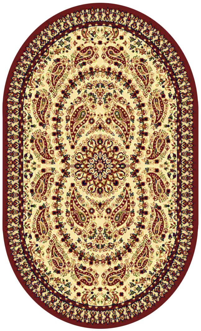 Ковер Kamalak tekstil, овальный, 100 x 150 см. УК-018674-0060Ковер Kamalak Tekstil изготовлен из прочного синтетического материала heat-set, улучшенного варианта полипропилена (эта нить получается в результате его дополнительной обработки). Полипропилен износостоек, нетоксичен, не впитывает влагу, не провоцирует аллергию. Структура волокна в полипропиленовых коврах гладкая, поэтому грязь не будет въедаться и скапливаться на ворсе. Практичный и износоустойчивый ворс не истирается и не накапливает статическое электричество. Ковер обладает хорошими показателями теплостойкости и шумоизоляции. Оригинальный рисунок позволит гармонично оформить интерьер комнаты, гостиной или прихожей. За счет невысокого ворса ковер легко чистить. При надлежащем уходе синтетический ковер прослужит долго, не утратив ни яркости узора, ни блеска ворса, ни упругости. Самый простой способ избавить изделие от грязи - пропылесосить его с обеих сторон (лицевой и изнаночной). Влажная уборка с применением шампуней и моющих средств не противопоказана. Хранить рекомендуется в свернутом рулоном виде.