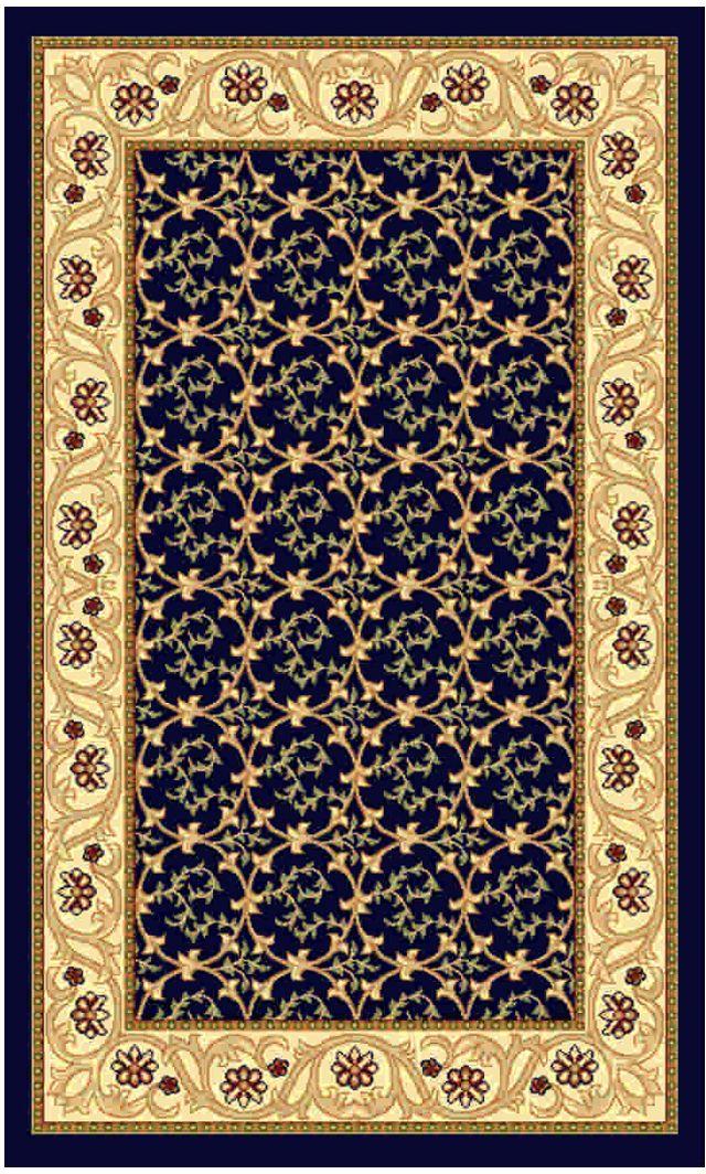Ковер Kamalak tekstil, прямоугольный, цвет: синий, 80 x 150 см. УК-0213A5700LM-8BKКовры-паласы выполнены из полипропилена. Ковры обладают хорошими показателями теплостойкости и шумоизоляции. Являются гиппоалергенными. За счет невысокого ворса ковры легко чистить. Вам придется по душе широкая гамма цветов и возможность гармонично оформить интерьер. Практичный и устойчивый к износу ворс - от постоянного хождения не истирается, не накапливает статическое электричество. Структура волокна в полипропиленовых моделях гладкая, поэтому грязь не может выесться, на ворсе она скапливается с трудом. Полипропилен не впитывает влагу, отталкивает водянистые пятна. Уход: Самый простой способ избавить изделие от грязи – пропылесосить его с обеих сторон (лицевой и изнаночной).Влажная уборка с применением шампуней и моющих средств не противопоказана. Если шерсти и шёлку универсальные чистящие составы не подходят, то для синтетики они придутся в самый раз.Хранить их нужно рулоном, не складывая «салфеткой».При надлежащем уходе синтетический ковёр прослужит долго, не утратив ни яркости узора, ни блеска ворса, ни его упругости.