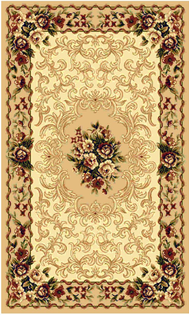 Ковер Kamalak tekstil, прямоугольный, цвет: бежевый, 50 x 100 см. УК-0428ES-412Ковры-паласы выполнены из полипропилена. Ковры обладают хорошими показателями теплостойкости и шумоизоляции. Являются гиппоалергенными. За счет невысокого ворса ковры легко чистить. Вам придется по душе широкая гамма цветов и возможность гармонично оформить интерьер. Практичный и устойчивый к износу ворс - от постоянного хождения не истирается, не накапливает статическое электричество. Структура волокна в полипропиленовых моделях гладкая, поэтому грязь не может выесться, на ворсе она скапливается с трудом. Полипропилен не впитывает влагу, отталкивает водянистые пятна. Уход: Самый простой способ избавить изделие от грязи – пропылесосить его с обеих сторон (лицевой и изнаночной).Влажная уборка с применением шампуней и моющих средств не противопоказана. Если шерсти и шёлку универсальные чистящие составы не подходят, то для синтетики они придутся в самый раз.Хранить их нужно рулоном, не складывая «салфеткой».При надлежащем уходе синтетический ковёр прослужит долго, не утратив ни яркости узора, ни блеска ворса, ни его упругости.