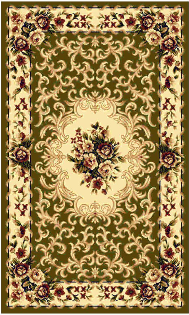 Ковер Kamalak tekstil, прямоугольный, цвет: зеленый, 80 x 150 см. УК-0008PARADIS I 75013-5C ANTIQUEКовры-паласы выполнены из полипропилена. Ковры обладают хорошими показателями теплостойкости и шумоизоляции. Являются гиппоалергенными. За счет невысокого ворса ковры легко чистить. Вам придется по душе широкая гамма цветов и возможность гармонично оформить интерьер. Практичный и устойчивый к износу ворс - от постоянного хождения не истирается, не накапливает статическое электричество. Структура волокна в полипропиленовых моделях гладкая, поэтому грязь не может выесться, на ворсе она скапливается с трудом. Полипропилен не впитывает влагу, отталкивает водянистые пятна. Уход: Самый простой способ избавить изделие от грязи – пропылесосить его с обеих сторон (лицевой и изнаночной).Влажная уборка с применением шампуней и моющих средств не противопоказана. Если шерсти и шёлку универсальные чистящие составы не подходят, то для синтетики они придутся в самый раз.Хранить их нужно рулоном, не складывая «салфеткой».При надлежащем уходе синтетический ковёр прослужит долго, не утратив ни яркости узора, ни блеска ворса, ни его упругости.