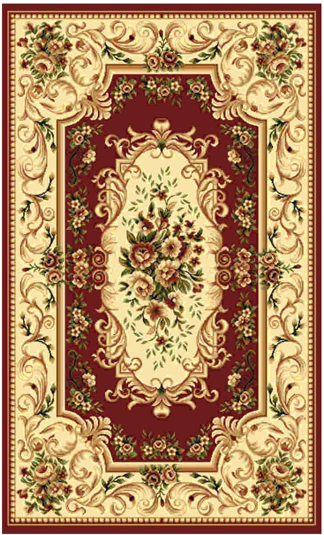Ковер Kamalak tekstil, прямоугольный, цвет: бордовый , 80 x 150 см. УК-0369ES-412Ковры-паласы выполнены из полипропилена. Ковры обладают хорошими показателями теплостойкости и шумоизоляции. Являются гиппоалергенными. За счет невысокого ворса ковры легко чистить. Вам придется по душе широкая гамма цветов и возможность гармонично оформить интерьер. Практичный и устойчивый к износу ворс - от постоянного хождения не истирается, не накапливает статическое электричество. Структура волокна в полипропиленовых моделях гладкая, поэтому грязь не может выесться, на ворсе она скапливается с трудом. Полипропилен не впитывает влагу, отталкивает водянистые пятна. Уход: Самый простой способ избавить изделие от грязи – пропылесосить его с обеих сторон (лицевой и изнаночной).Влажная уборка с применением шампуней и моющих средств не противопоказана. Если шерсти и шёлку универсальные чистящие составы не подходят, то для синтетики они придутся в самый раз.Хранить их нужно рулоном, не складывая «салфеткой».При надлежащем уходе синтетический ковёр прослужит долго, не утратив ни яркости узора, ни блеска ворса, ни его упругости.