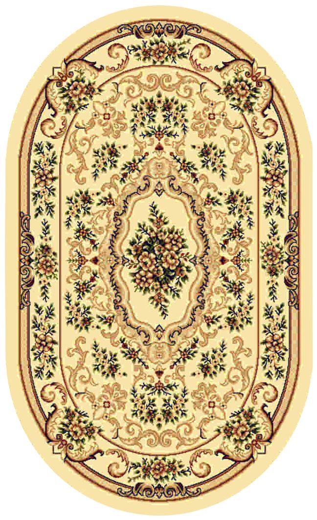 Ковер Kamalak tekstil, овальный, 100 x 150 см. УК-0102ES-412Ковер Kamalak Tekstil изготовлен из прочного синтетического материала heat-set, улучшенного варианта полипропилена (эта нить получается в результате его дополнительной обработки). Полипропилен износостоек, нетоксичен, не впитывает влагу, не провоцирует аллергию. Структура волокна в полипропиленовых коврах гладкая, поэтому грязь не будет въедаться и скапливаться на ворсе. Практичный и износоустойчивый ворс не истирается и не накапливает статическое электричество. Ковер обладает хорошими показателями теплостойкости и шумоизоляции. Оригинальный рисунок позволит гармонично оформить интерьер комнаты, гостиной или прихожей. За счет невысокого ворса ковер легко чистить. При надлежащем уходе синтетический ковер прослужит долго, не утратив ни яркости узора, ни блеска ворса, ни упругости. Самый простой способ избавить изделие от грязи - пропылесосить его с обеих сторон (лицевой и изнаночной). Влажная уборка с применением шампуней и моющих средств не противопоказана. Хранить рекомендуется в свернутом рулоном виде.