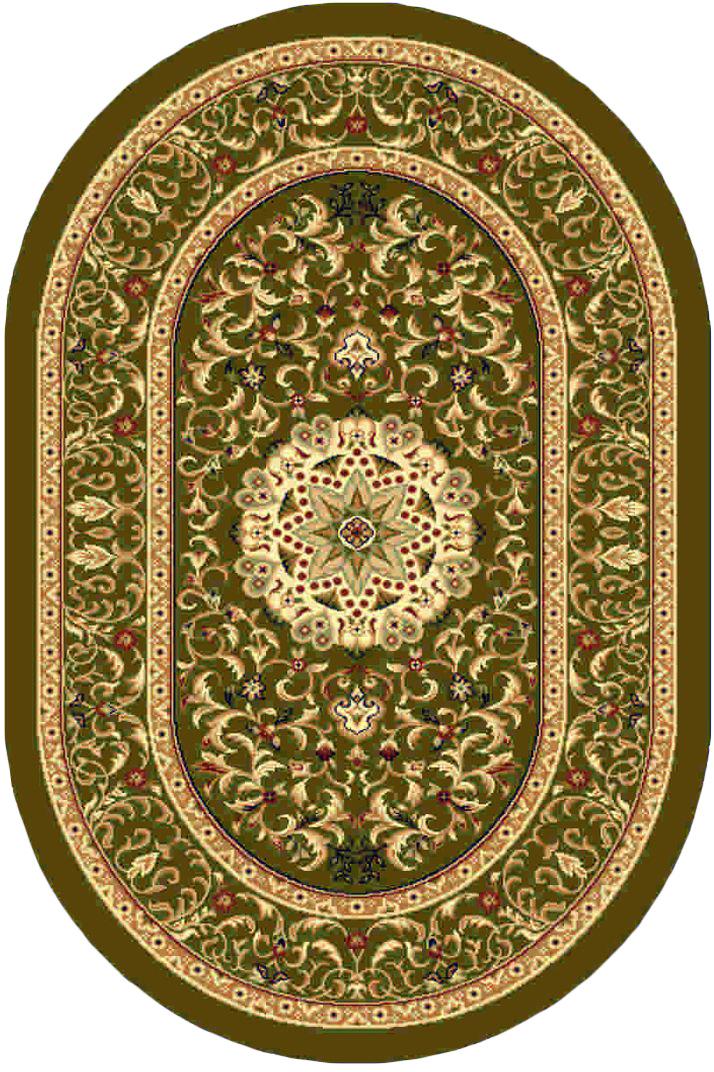 Ковер Kamalak tekstil, овальный, 100 x 150 см. УК-0385ES-412Ковер Kamalak Tekstil изготовлен из прочного синтетического материала heat-set, улучшенного варианта полипропилена (эта нить получается в результате его дополнительной обработки). Полипропилен износостоек, нетоксичен, не впитывает влагу, не провоцирует аллергию. Структура волокна в полипропиленовых коврах гладкая, поэтому грязь не будет въедаться и скапливаться на ворсе. Практичный и износоустойчивый ворс не истирается и не накапливает статическое электричество. Ковер обладает хорошими показателями теплостойкости и шумоизоляции. Оригинальный рисунок позволит гармонично оформить интерьер комнаты, гостиной или прихожей. За счет невысокого ворса ковер легко чистить. При надлежащем уходе синтетический ковер прослужит долго, не утратив ни яркости узора, ни блеска ворса, ни упругости. Самый простой способ избавить изделие от грязи - пропылесосить его с обеих сторон (лицевой и изнаночной). Влажная уборка с применением шампуней и моющих средств не противопоказана. Хранить рекомендуется в свернутом рулоном виде.