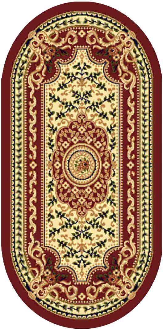 Ковер Kamalak tekstil, овальный, 80 x 150 см. УК-041541619Ковер Kamalak Tekstil изготовлен из прочного синтетического материала heat-set, улучшенного варианта полипропилена (эта нить получается в результате его дополнительной обработки). Полипропилен износостоек, нетоксичен, не впитывает влагу, не провоцирует аллергию. Структура волокна в полипропиленовых коврах гладкая, поэтому грязь не будет въедаться и скапливаться на ворсе. Практичный и износоустойчивый ворс не истирается и не накапливает статическое электричество. Ковер обладает хорошими показателями теплостойкости и шумоизоляции. Оригинальный рисунок позволит гармонично оформить интерьер комнаты, гостиной или прихожей. За счет невысокого ворса ковер легко чистить. При надлежащем уходе синтетический ковер прослужит долго, не утратив ни яркости узора, ни блеска ворса, ни упругости. Самый простой способ избавить изделие от грязи - пропылесосить его с обеих сторон (лицевой и изнаночной). Влажная уборка с применением шампуней и моющих средств не противопоказана. Хранить рекомендуется в свернутом рулоном виде.