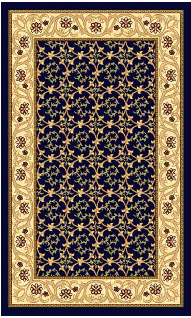 Ковер Kamalak tekstil, прямоугольный, цвет: синий, 60 x 110 см. УК-0214THN132NКовры-паласы выполнены из полипропилена. Ковры обладают хорошими показателями теплостойкости и шумоизоляции. Являются гиппоалергенными. За счет невысокого ворса ковры легко чистить. Вам придется по душе широкая гамма цветов и возможность гармонично оформить интерьер. Практичный и устойчивый к износу ворс - от постоянного хождения не истирается, не накапливает статическое электричество. Структура волокна в полипропиленовых моделях гладкая, поэтому грязь не может выесться, на ворсе она скапливается с трудом. Полипропилен не впитывает влагу, отталкивает водянистые пятна. Уход: Самый простой способ избавить изделие от грязи – пропылесосить его с обеих сторон (лицевой и изнаночной).Влажная уборка с применением шампуней и моющих средств не противопоказана. Если шерсти и шёлку универсальные чистящие составы не подходят, то для синтетики они придутся в самый раз.Хранить их нужно рулоном, не складывая «салфеткой».При надлежащем уходе синтетический ковёр прослужит долго, не утратив ни яркости узора, ни блеска ворса, ни его упругости.