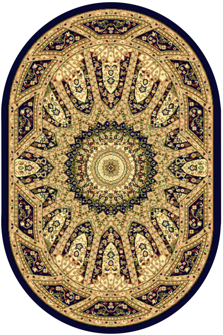 Ковер Kamalak tekstil, овальный, 100 x 150 см. УК-0225ES-412Ковер Kamalak Tekstil изготовлен из прочного синтетического материала heat-set, улучшенного варианта полипропилена (эта нить получается в результате его дополнительной обработки). Полипропилен износостоек, нетоксичен, не впитывает влагу, не провоцирует аллергию. Структура волокна в полипропиленовых коврах гладкая, поэтому грязь не будет въедаться и скапливаться на ворсе. Практичный и износоустойчивый ворс не истирается и не накапливает статическое электричество. Ковер обладает хорошими показателями теплостойкости и шумоизоляции. Оригинальный рисунок позволит гармонично оформить интерьер комнаты, гостиной или прихожей. За счет невысокого ворса ковер легко чистить. При надлежащем уходе синтетический ковер прослужит долго, не утратив ни яркости узора, ни блеска ворса, ни упругости. Самый простой способ избавить изделие от грязи - пропылесосить его с обеих сторон (лицевой и изнаночной). Влажная уборка с применением шампуней и моющих средств не противопоказана. Хранить рекомендуется в свернутом рулоном виде.