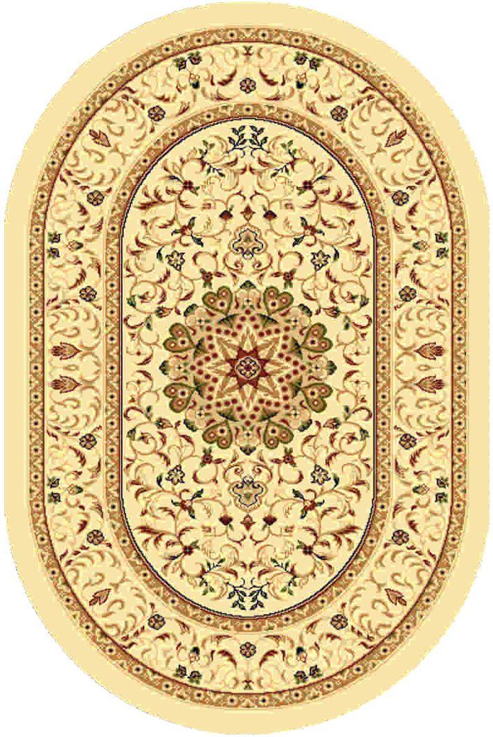 Ковер Kamalak tekstil, овальный, 100 x 150 см. УК-037441619Ковер Kamalak Tekstil изготовлен из прочного синтетического материала heat-set, улучшенного варианта полипропилена (эта нить получается в результате его дополнительной обработки). Полипропилен износостоек, нетоксичен, не впитывает влагу, не провоцирует аллергию. Структура волокна в полипропиленовых коврах гладкая, поэтому грязь не будет въедаться и скапливаться на ворсе. Практичный и износоустойчивый ворс не истирается и не накапливает статическое электричество. Ковер обладает хорошими показателями теплостойкости и шумоизоляции. Оригинальный рисунок позволит гармонично оформить интерьер комнаты, гостиной или прихожей. За счет невысокого ворса ковер легко чистить. При надлежащем уходе синтетический ковер прослужит долго, не утратив ни яркости узора, ни блеска ворса, ни упругости. Самый простой способ избавить изделие от грязи - пропылесосить его с обеих сторон (лицевой и изнаночной). Влажная уборка с применением шампуней и моющих средств не противопоказана. Хранить рекомендуется в свернутом рулоном виде.