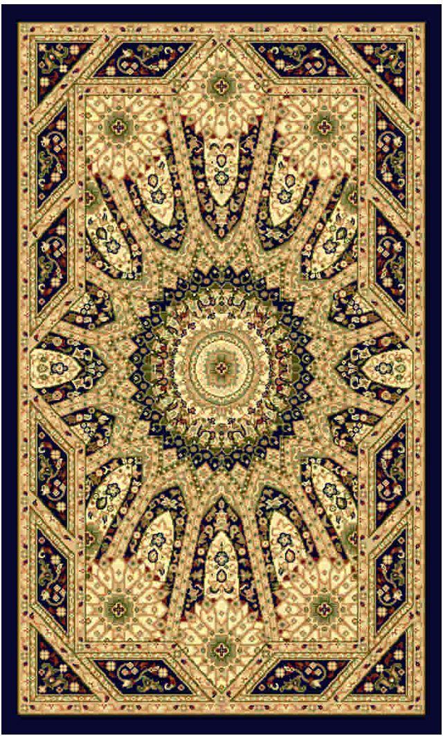 Ковер Kamalak tekstil, прямоугольный, цвет: синий, 100 x 150 см. УК-0224ES-412Ковры-паласы выполнены из полипропилена. Ковры обладают хорошими показателями теплостойкости и шумоизоляции. Являются гиппоалергенными. За счет невысокого ворса ковры легко чистить. Вам придется по душе широкая гамма цветов и возможность гармонично оформить интерьер. Практичный и устойчивый к износу ворс - от постоянного хождения не истирается, не накапливает статическое электричество. Структура волокна в полипропиленовых моделях гладкая, поэтому грязь не может выесться, на ворсе она скапливается с трудом. Полипропилен не впитывает влагу, отталкивает водянистые пятна. Уход: Самый простой способ избавить изделие от грязи – пропылесосить его с обеих сторон (лицевой и изнаночной).Влажная уборка с применением шампуней и моющих средств не противопоказана. Если шерсти и шёлку универсальные чистящие составы не подходят, то для синтетики они придутся в самый раз.Хранить их нужно рулоном, не складывая «салфеткой».При надлежащем уходе синтетический ковёр прослужит долго, не утратив ни яркости узора, ни блеска ворса, ни его упругости.