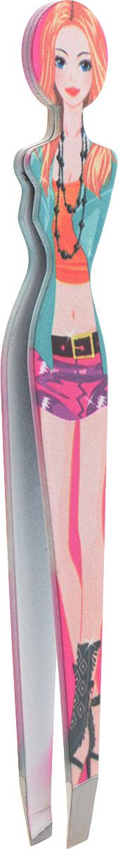 Пинцет для бровей Solinberg F122, цветной, наклонное окончание с четкими гранями28032022Пинцет для бровей Solinberg F122, цветной, наклонное окончание с четкими гранями