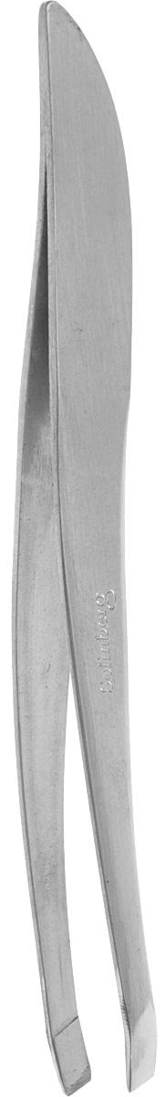 Пинцет для бровей Solinberg G772з (ручная заточка), матовый, наклонное окончание с четкими гранями.1301210Пинцет для бровей Solinberg G772з (ручная заточка), матовый, наклонное окончание с четкими гранями.