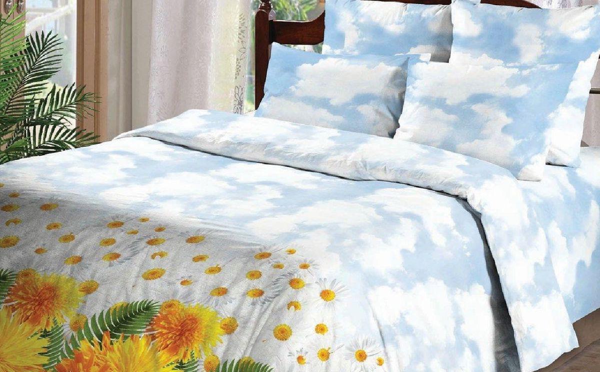 Комплект белья Liya Home Collection Летний день, 2-спальный, наволочки 70x70, цвет: голубой, желтыйCA-3505Комплект белья Liya Home Collection Летний день состоит из пододеяльника, простыни и двух наволочек. Белье выполнено из ранфорса (70% хлопок, 30% полиэстер). Ранфорс - это ткань, которая по своим техническим и тактильным свойствам значительно лучше бязи и служит более недорогой альтернативой сатину. Ранфорс легко стирается, быстро сохнет, гигроскопичен, гигиеничен, это натуральный качественный материал. Сочетание хлопка с полиэстером лишает ткань присущих хлопку недостатков: белье не выгорает, не растягивается, дольше служит. Мягкость и нежность материала создает чувство комфорта и защищенности.