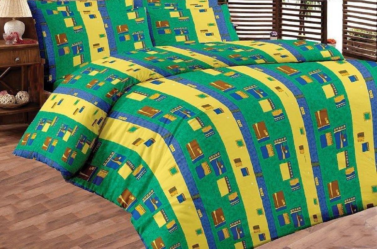 Комплект белья Liya Home Collection Пикассо, 2-спальный с евро простыней, наволочки 70x70, цвет: зеленый, желтый0000120002133Комплект белья Liya Home Collection Пикассо состоит из пододеяльника, евро простыни и двух наволочек. Изделия выполнены из хлопка (70%) и полиэстера (30%). Хлопок является классическим примером гигроскопичности, гигиеничности, натуральности и простоты. Сочетание его с полиэстером лишает ткань присущих хлопку недостатков. Изделия из хлопка с полиэстером не выгорают, не растягиваются, дольше используются. Постельное белье из хлопка с полиэстером имеет двукратную продолжительность эксплуатации, по сравнению с чистым хлопком, оно не мнется и сохнет очень быстро.