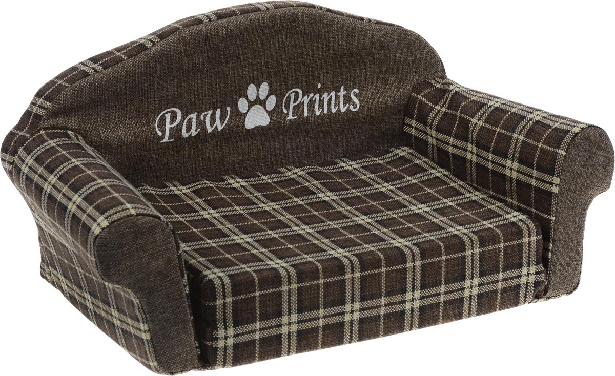Лежак для животных Paw Prints Диван, цвет: коричневый, 51 х 32 х 28 см0120710Лежак для животных Paw Prints Диван прекрасно подойдет для отдыха вашего домашнего питомца. Предназначен для собак мелких пород и кошек. Изделие выполнено из прочной льняной ткани с принтом в клетку. Внутри лежака поролон, который обеспечивает мягкость и упругость изделия. Лежак раскладывается, что позволяет увеличить место для отдыха. Комфортный и уютный диван обязательно понравится вашей кошке или собаке, а стильный дизайн изделия оригинально дополнит интерьер дома. Размер матраса (в собранном виде): 37 х 27 х 8 см. Размер матраса (в разобранном виде): 55 х 36 х 4 см.