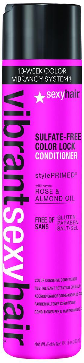 Sexy Hair Кондиционер для сохранения цвета Vibrant, 300 млFS-36054Обеспечивает увлажнение и восстановление структуры поврежденных окрашенных волос. Облегчает расчесывание, делает волосы шелковистыми и упругими. Защищает цвет, сохраняя его яркость и сияние. Масло Дамасской розы увлажняет и защищает волосы, повышая их прочность и упругость. Масло сладкого миндаля смягчает и разглаживает волосы, защищая от воздействия негативных внешних факторов.Масло кокоса разглаживает поверхность волос, контролирует пушистость, надолго сохраняя блеск и эластичность. Фитоцирамиды подсолнечника предотвращают ломкость волос, защищают от повреждений и воздействия УФ-лучей. Пантенол интенсивно увлажняет, возвращая волосам мягкость и эластичность. Не содержит агрессивных очищающих веществ.