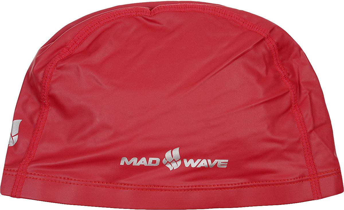 Шапочка для плавания Mad Wave PUT Coated, цвет: красный бутылки для воды mad wave шейкер