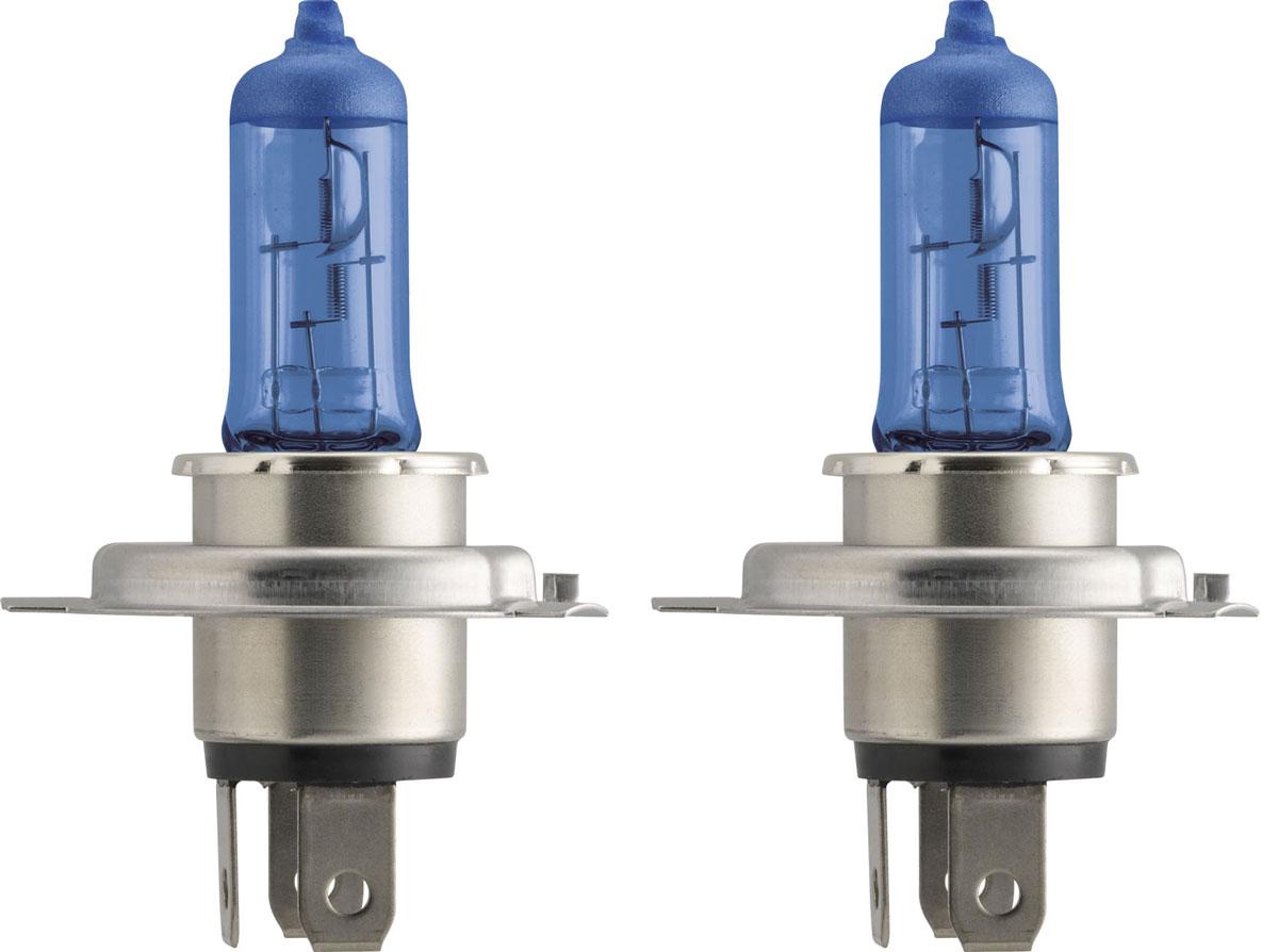 Лампа автомобильная галогенная Philips DiamondVision, для фар, цоколь H4 (P43t), 12V, 60/55W, 2 шт2615S545JBАвтомобильная галогенная лампа Philips DiamondVision произведена из запатентованного кварцевого стекла с УФ фильтром Philips Quartz Glass. Кварцевое стекло Philips в отличие от обычного твердого стекла выдерживает гораздо большее давление смеси газов внутри колбы, что препятствует быстрому испарению вольфрама с нити накаливания. Кварцевое стекло выдерживает большой перепад температур, при попадании влаги на работающую лампу изделие не взрывается и продолжает работать. Лампа DiamondVision с чистым белым светом, цветовой температурой 5000 K и стильным эффектом холодного белого ксенонового света идеально подходит для водителей, которые хотят придать индивидуальный стиль своему автомобилю. Автомобильные галогенные лампы Philips удовлетворят все нужды автомобилистов: дальний свет, ближний свет, передние противотуманные фары, передние и боковые указатели поворота, задние указатели поворота, стоп-сигналы, фонари заднего хода, задние противотуманные фонари, освещение номерного знака, задние габаритные/стояночные фонари, освещение салона.