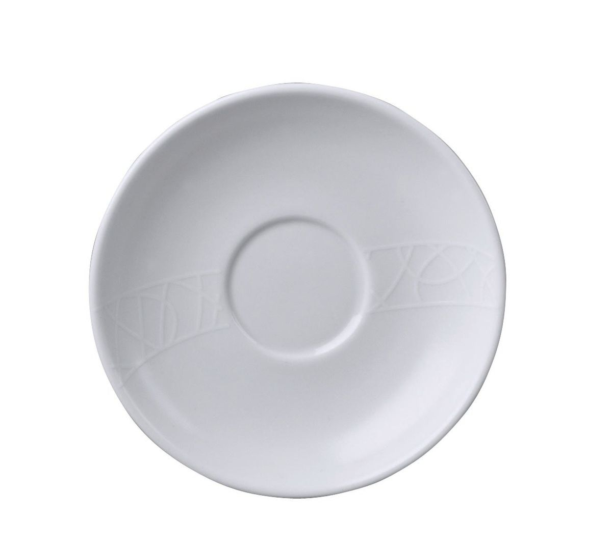 Блюдце кофейное Churchill Джейми Оливер, диаметр 13,5 см115510Блюдце кофейное Churchill Джейми Оливер выполнено из высококачественного фарфора. Простой орнамент с тонкими текстурными линиями. Коллекция Белое на белом - лёгкий и непринуждённый стиль. Посуда этой коллекции износостойкая и ударопрочная.