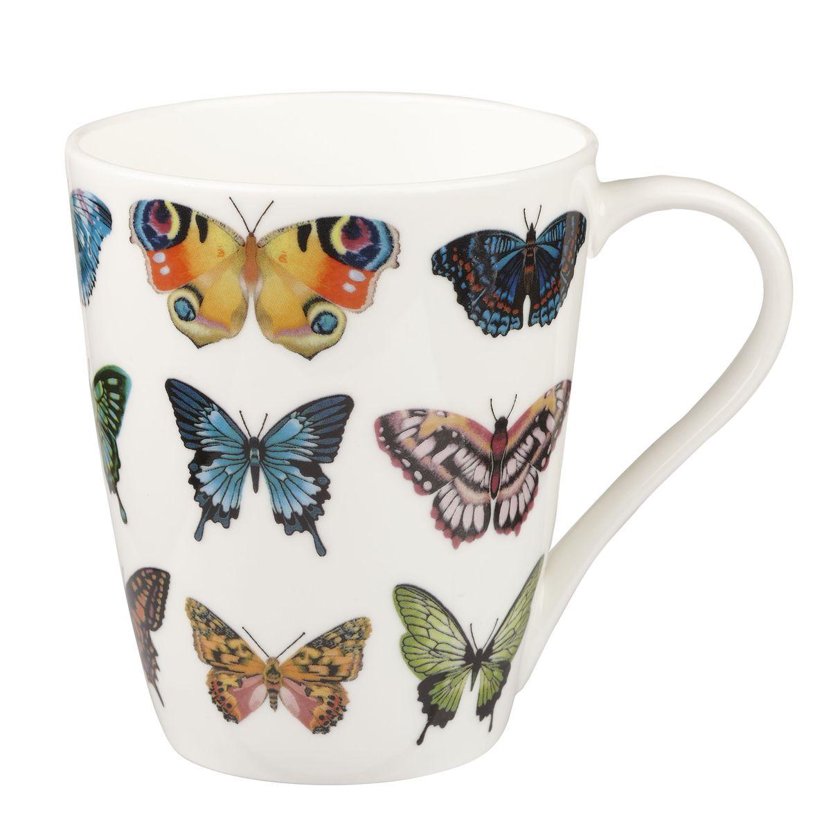 Кружка Churchill Бабочки, цвет: белый, оранжевый, синий, 425 млVT-1520(SR)Кружка Churchill Бабочки изготовлена из высококачественного костяного фарфора. Внешние стенки дополнены красочным изображением бабочек. Такая кружка отлично подойдет для горячих и холодных напитков. С ней ваши любимые напитки будут еще вкусней. Коллекция Арлекин красиво упакована в подарочные коробки. Можно мыть в посудомоечной машине. Можно использовать в микроволновой печи.
