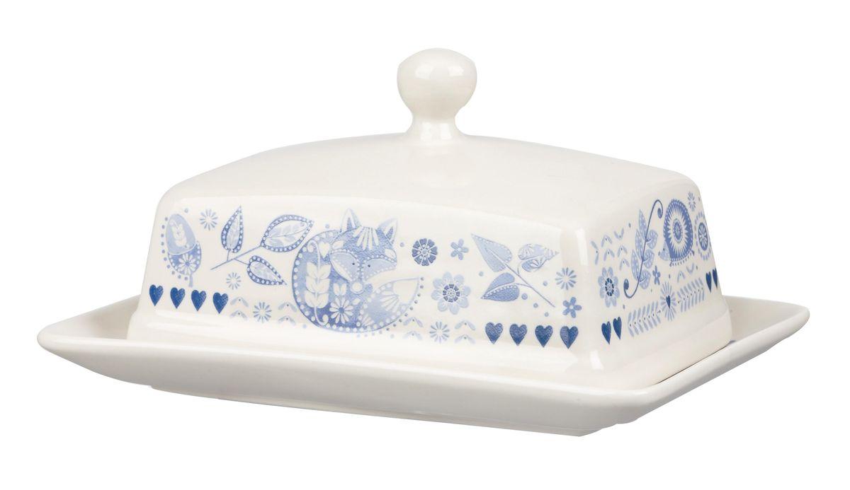 Масленка Churchill Пензанс115510Масленка Churchill Пензанс, выполненная из высококачественной керамики, предназначена для красивой сервировки и хранения масла. Она состоит из подноса и крышки с ручкой, оформленной под гжель. Масло в ней долго остается свежим, а при хранении в холодильнике не впитывает посторонние запахи.Можно мыть в посудомоечной машине и использовать в микроволновой печи.Размер подноса: 17 см х 12,5 см х 1,8 см.Размер крышки: 14 см х 10,5 см х 8 см.