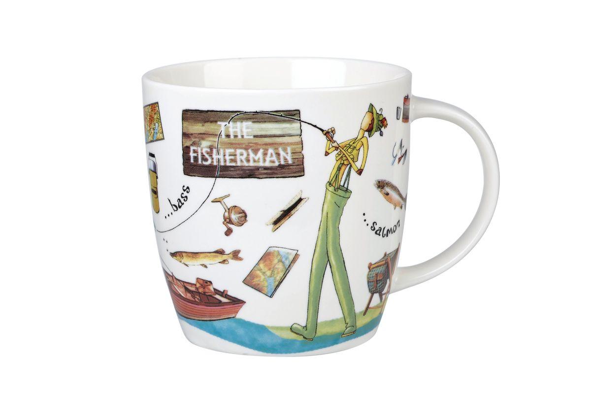 Кружка Churchill Рыбак, 400 мл733510 2241Кружка Churchill Рыбак изготовлена из высококачественного костяного фарфора. Внешние стенки дополнены оригинальным принтом. Такая кружка отлично подойдет для горячих и холодных напитков. С ней ваши любимые напитки будут еще вкусней. Коллекция На досуге призывает наслаждаться любимыми делами, например, заняться спортом. Коллекция отличается причудливыми веселыми рисунками и оригинальной подарочной упаковкой.Можно мыть в посудомоечной машине. Можно использовать в микроволновой печи.