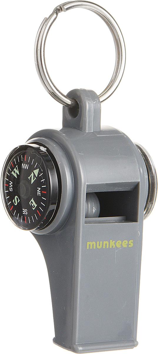 Свисток Munkees с компасом и термометромГризлиСвисток Munkees с компасом и термометром - звонко, легко, многофункционально. Всегда под рукой компас для контроля направления движения и термометр для определения изменений температуры. Сам свисток можно использовать как на групповых тренировках, можно в качестве дрессировки собак, а можно и в экстренных случаях, обратить на себя внимание либо отпугнуть недоброжелателей или агрессивных животных. Свисток оснащен кольцом для подвешивания.