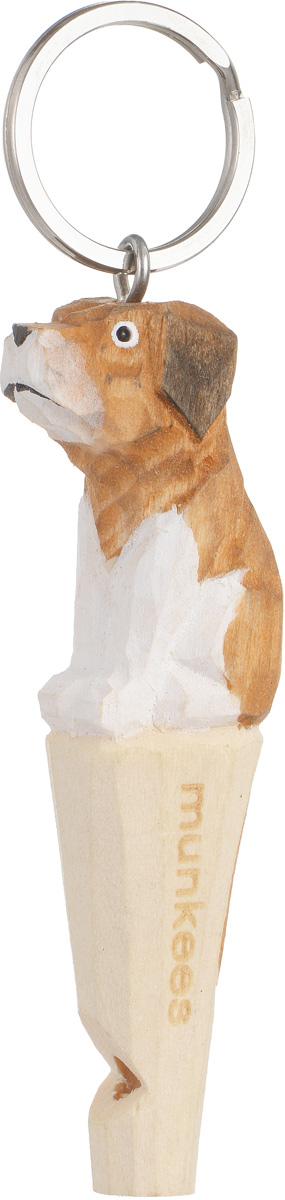 Брелок-свисток Munkees СобакаMABLSEH10001Брелок-свисток Munkees Собака - это свисток с вырезанной вручную фигуркой, выполненной из дерева. Фигурка символизирует знак зодиака по восточному календарю. Сам свисток можно использовать на групповых тренировках, можно в качестве дрессировки собак, а можно и в экстренных случаях, обратить на себя внимание либо отпугнуть недоброжелателей или агрессивных животных.Такой свисток станет оригинальным и практичным подарком.