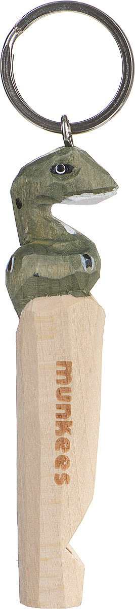 Брелок-свисток Munkees ЗмеяFABLSEH10002Брелок-свисток Munkees Змея - это свисток с вырезанной вручную фигуркой, выполненной из дерева. Фигурка символизирует знак зодиака по восточному календарю. Сам свисток можно использовать на групповых тренировках, можно в качестве дрессировки собак, а можно и в экстренных случаях, обратить на себя внимание либо отпугнуть недоброжелателей или агрессивных животных.Такой свисток станет оригинальным и практичным подарком.