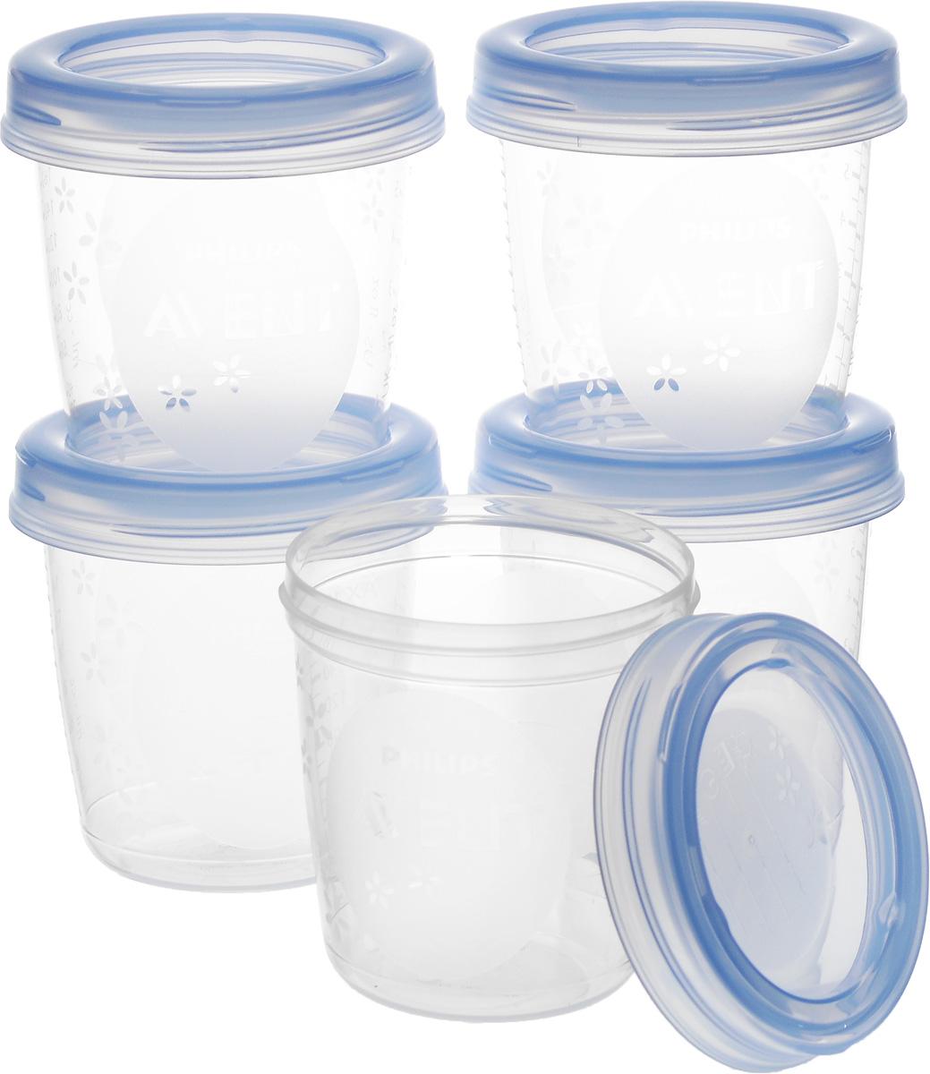 """Набор контейнеров для грудного молока c крышками """"Philips Avent"""" специально разработан для удовлетворения потребностей матери и ребенка. Процесс кормления проходит легко, а ваш ребенок не подвергается воздействию вредных веществ. Грудное молоко имеет огромное значение для развития вашего малыша. Если вы обращаетесь с молоком осторожно, оно сохраняет все природные витамины и питательные вещества, необходимые для ребенка. Именно поэтому так важно подобрать правильный контейнер для хранения вашего молока. Набор включает 5 контейнеров объемом по 180 мл. На контейнерах и крышках можно писать даты, когда молоко было упаковано. Изделия не содержат бисфенол А, изготовлены из безопасного полипропилена."""