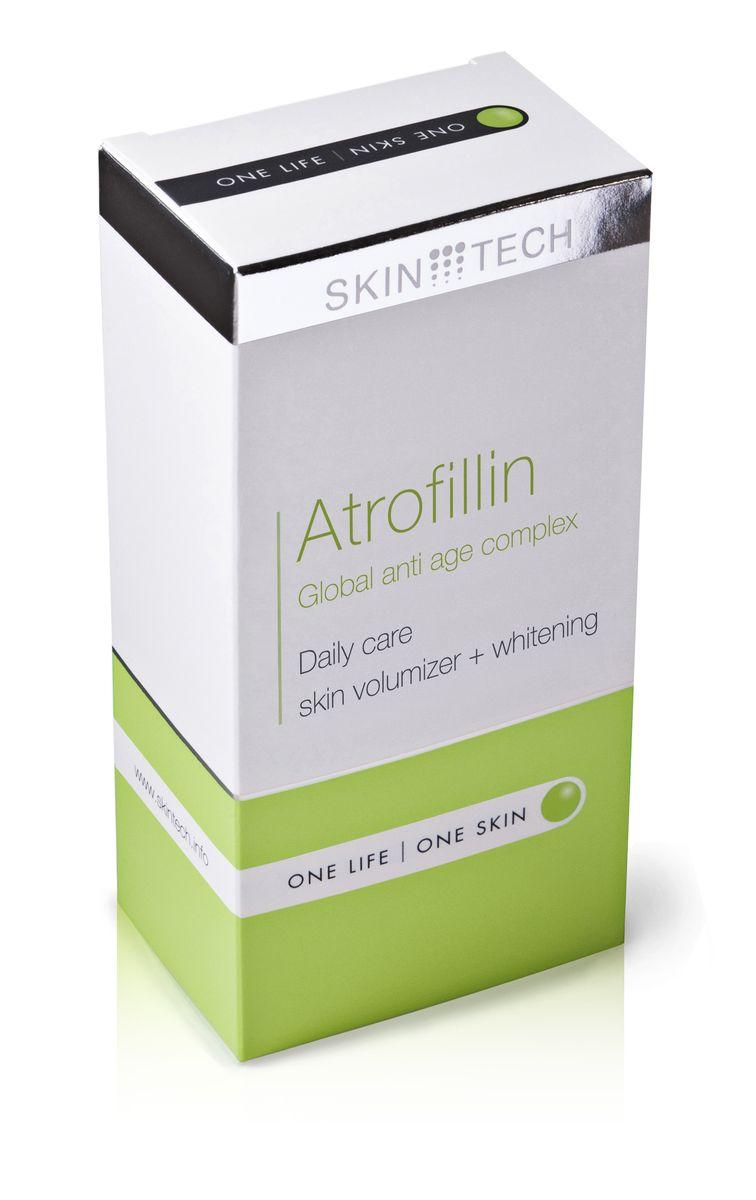Skin Tech Крем для лица Atrofillin, 50 млC5495700Универсальный антивозрастной комплекс. Содействует профилактике и замедлению возрастных изменений атрофического характера, истончения кожи и возрастной пигментации. Выравнивает неоднородный тон, освежает цвет лица, уменьшает симптомы ослабления и сухости кожи, улучшая ее плотность и толщину (содействует локальному восстановлению подкожно-жировой клетчатки). Быстро впитывается, не оставляя ощущения жирности или липкости. Подходит для любого типа кожи, включая чувствительную и возрастную с признаками естественного и/или фотостарения.