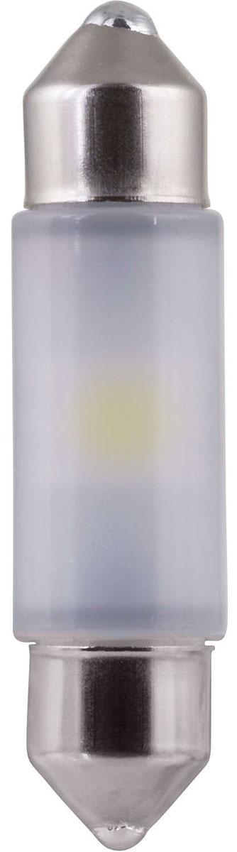 Лампа автомобильная светодиодная Philips Vision Festoon 10,5x38. 128016000KB110503Создай свой собственный стиль на дороге с новымисветодиодами LED Vision от Philips. Vision LED ультрахолодный четкий белый свет 5 500 K - 12 В, равномерное рассеяние светана 360°, срок службы 12 лет. Доступен в Feston 10,5x38, T10 LED