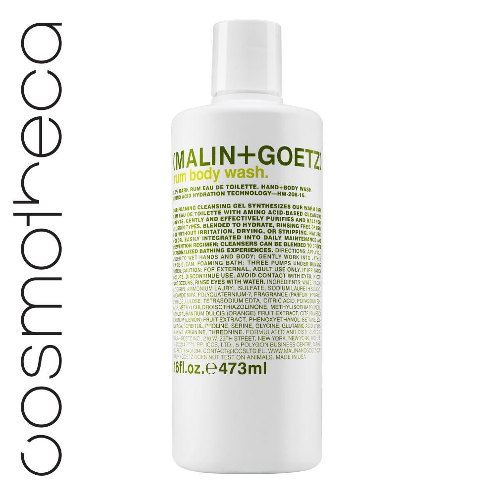 Malin+Goetz Гель для душа Ром 473 млFS-00897Увлажняющая формула на основе аминокислот.Мягкие гели бережно очищают кожу, оставляя тонкий аромат. Моющая основа – аммониум лаурил сульфат и содиум лаурет сульфат.Эфирные масла лимона и сладкого апельсинаосвежают, восстанавливают, повышают эластичность кожи, поднимают настроение.