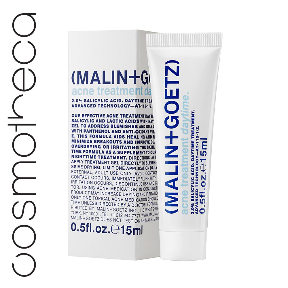 Malin+Goetz Гель для проблемной кожи лица дневной 15 млВН002Гель на основе лечебной формулы, минимизирующей и заживляющей воспаления без пересушивания. Наносите точечно на воспаления. Не используйте одновременно с другими средствами против акне.Салициловая кислота - оказывает противовоспалительное действиеВода гамамелиса – балансирует выработку себума, сужает поры.Молочная кислота – восстанавливает рН баланс, стимулирует обновление, улучшает цвет.Витамин В3 улучшает эластичность кожи и её барьерную функцию, придает сияние, стиму- лирует синтез коллагена, кожных церамидов и липидов, способствующих восстановлению кожного барьера.16 экстрактов растений и водорослей, оздоравливающих кожу, оказывающих антиоксидантное и антимикробное воздействие, не нарушая экосистему кожи.