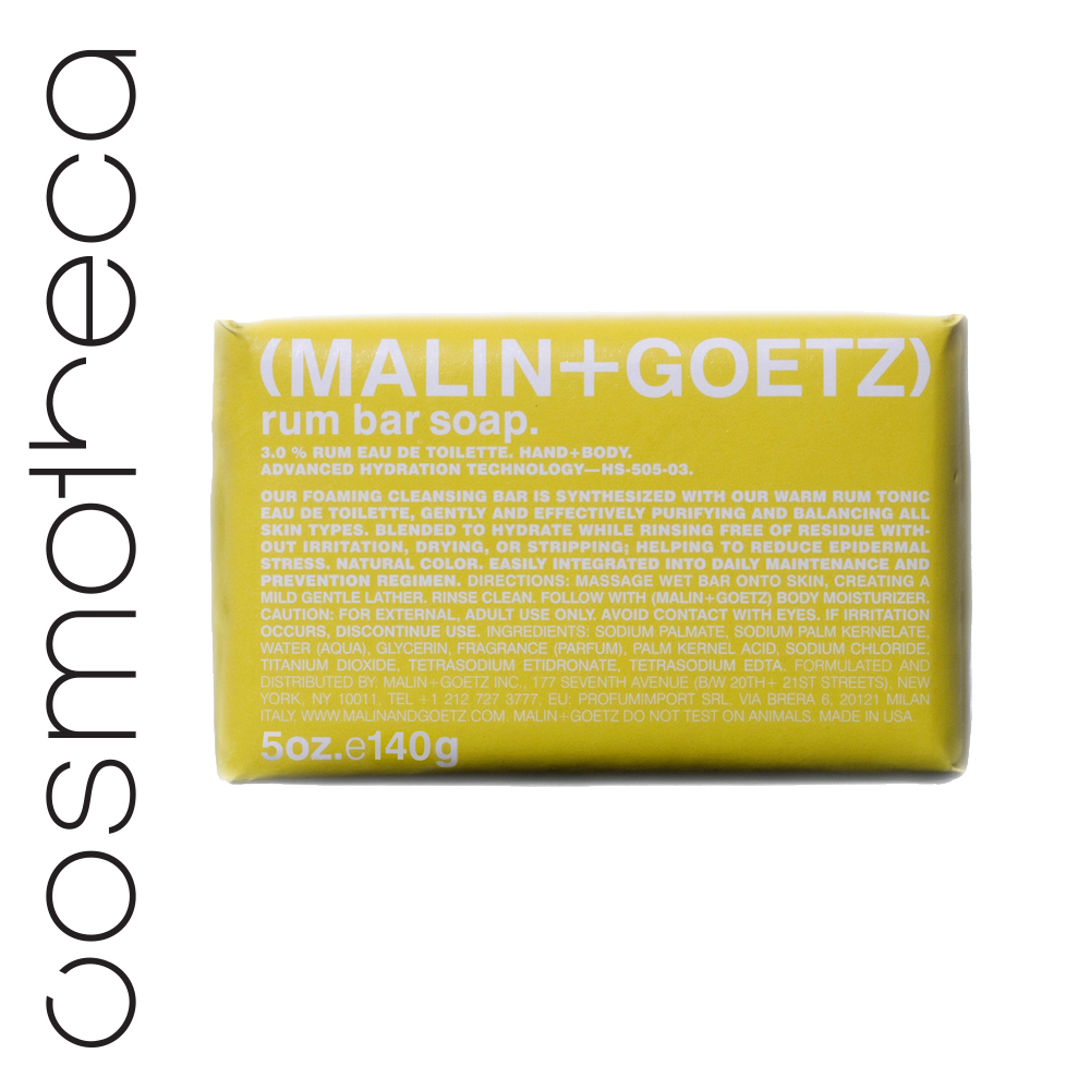 Malin+Goetz Мыло туалетное Ром 140 гр2430730Мягкая моющая основа, увлажняющий глицерин и яркие ароматы делают мыло очень приятным при использовании.