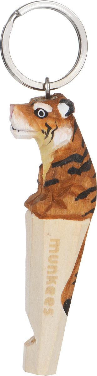Брелок-свисток Munkees Тигр3615Брелок-свисток Munkees Тигр - это свисток с вырезанной вручную фигуркой, выполненной из дерева. Фигурка символизирует знак зодиака по восточному календарю. Сам свисток можно использовать на групповых тренировках, можно в качестве дрессировки собак, а можно и в экстренных случаях, обратить на себя внимание либо отпугнуть недоброжелателей или агрессивных животных.Такой свисток станет оригинальным и практичным подарком.