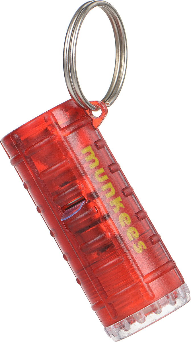 Брелок-фонарик Munkees, 4 режима1094Брелок-фонарик Munkees имеет 4 различных режима свечения. Фонарик имеет две лампы по обе стороны корпуса, выполненного из прочного пластика. С одной стороны белый фонарик, с другой красный. 4 режима свечения: белый постоянный, красный постоянный, белый + красный постоянные, красный мигающий. Стальное кольцо позволяет носить фонарь на ключах, поясе или рюкзаке.