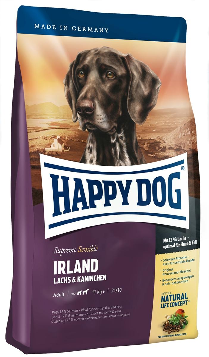 Корм сухой Happy Dog Ирландия для собак средних и крупных пород, с лососем и кроликом, 1 кг41374Happy Dog Ирландия - полнорационный корм для всех взрослых собак весом от 11 кг с нормальной потребностью в энергии. Благодаря тщательно отобранным компонентам (без белка из мяса ягненка и птицы, без риса, сои и пшеницы), особо бережной технологии приготовления и оптимизированному уровню белков и калорий корм отлично подходит также для целенаправленного кормления чувствительных собак с их специфическими потребностями. Специальная форма крокет соответствует форме челюстей собак средних и крупных пород. Состав: ячмень, лосось (12%), кролик (9%), мука из цельных зерен овса, картофельные хлопья, птичий жир, гидролизат печени, фосфат дикальция, свекольная пульпа, яблочная пульпа (0,8%), сухое цельное яйцо, хлорид натрия, дрожжи, хлорид калия, морские водоросли (0,15%), семя льна (0,15%), мясо моллюска (0,05%), Юкка Шидигера (0,02%), расторопша, артишок, одуванчик, имбирь, березовый лист, крапива, ромашка, кориандр, розмарин, шалфей, корень солодки, тимьян, дрожжи (экстрагированные), (общий объем трав: 0,14%).Аналитический состав: сырой протеин 21%, сырой жир 10%, сырая клетчатка 3%, сырая зола 6,5%, кальций 1,2%, фосфор 0,85%, натрий 0,45%, Омега - 6 жирные кислоты 2,5%, Омега - 3 жирные кислоты 0,3%.Витамины/кг: витамин А 12000 М.E., витамин D3 1200 М.E., витамин Е 75 мг, витамин В1 4 мг, витамин В2 6 мг, витамин В6 4 мг, биотин 575 мкг, кальций D-пантотенат 10 мг, ниацин 40 мг, витамин В12 70 мкг, холинхлорид. Микроэлементы/кг: железо 60 мг, медь 10 мг, цинк 10 мг, марганец 135 мг, йод 25 мг, селен 2 мг.Товар сертифицирован.