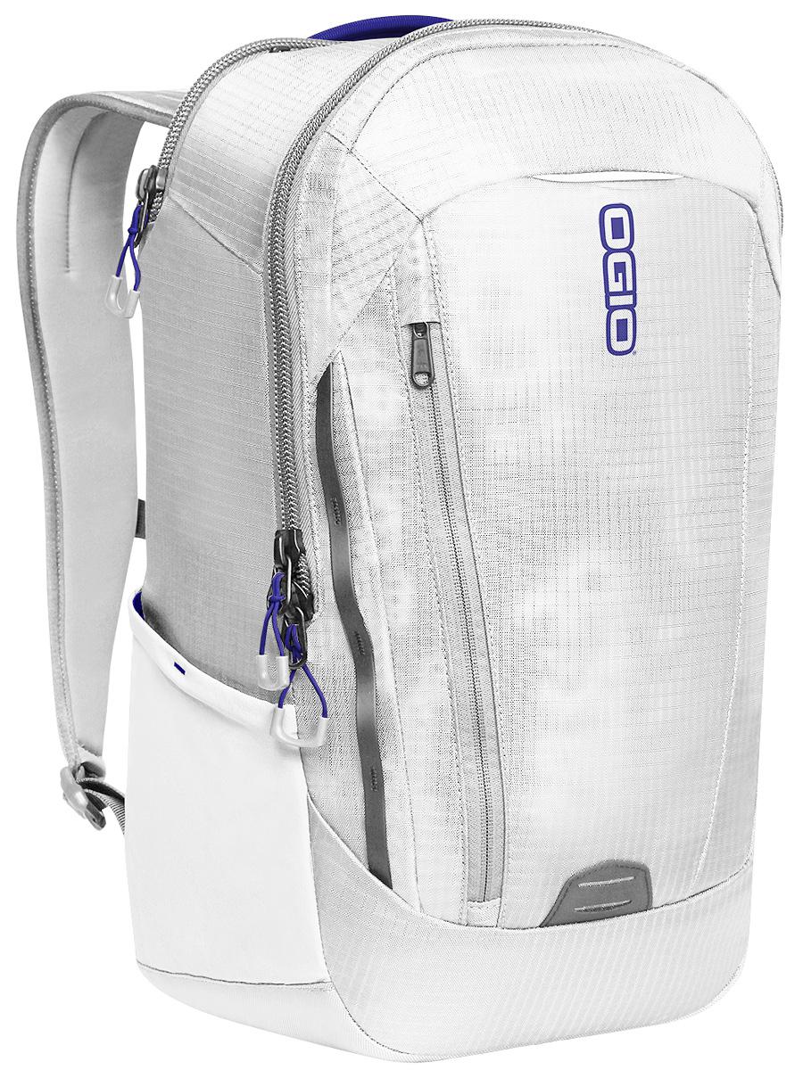 Рюкзак городской OGIO Apollo Pack, цвет: белый, синий, 20 л5871-2Рюкзак OGIO Apollo Pack разработан для ярких и модных людей! Он позволит вам взять с собой все необходимое.Этот рюкзак достаточно вместительный, благодаря чему у вас есть возможность взять с собой множество необходимых вещей, и при этом совсем не громоздкий. Множество специализированных карманов помогают распределить вещи в рюкзаке наиболее оптимальным способом, а современный дизайн и отличный внешний вид дополнят ваш образ. OGIO - высокотехнологичный продукт от американского производителя. Вместимые сумки для путешествий, работы и отдыха, специальная коллекция городских сумок для женщин, жесткие боксы под мелкий инвентарь и многое другое.Объем: 20 л.