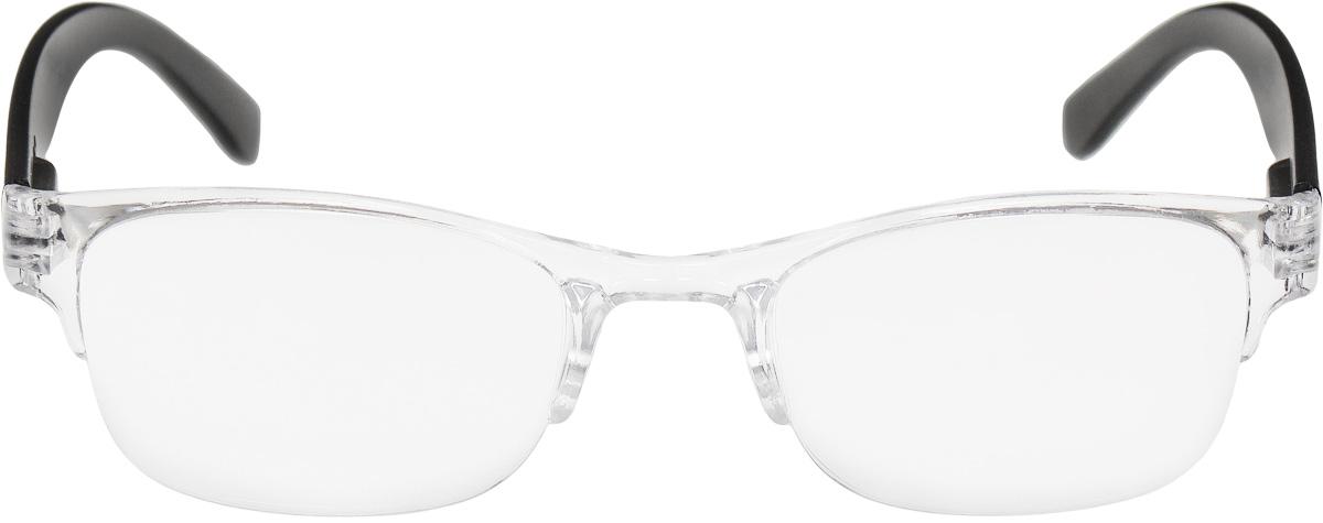 Proffi Home Очки корригирующие (для чтения) 322 Fabia Monti +2.00, цвет: черный, прозрачный2477Корригирующие очки, это очки которые направлены непосредственно на коррекцию зрения. Готовые очки для чтения с минусовыми и плюсовыми диоптриями (от -2,5 до + 4,00), не требующие рецепта врача. За счет технологически упрощенной конструкции и отсуствию этапа изготовления линз по индивидуальным параметрам - экономичный готовый вариант для людей, пользующихся очками нечасто, в основном, для чтения.