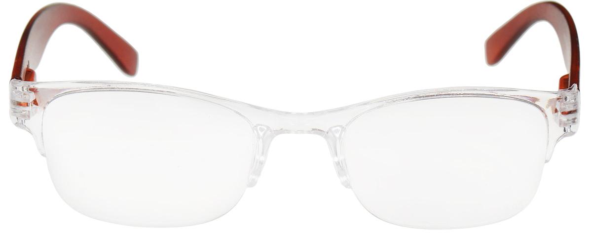 Proffi Home Очки корригирующие (для чтения) 322 Fabia Monti +1.50, цвет: прозрачныйPH6732_коричневыйКорригирующие очки, это очки которые направлены непосредственно на коррекцию зрения. Готовые очки для чтения с минусовыми и плюсовыми диоптриями (от -2,5 до + 4,00), не требующие рецепта врача. За счет технологически упрощенной конструкции и отсуствию этапа изготовления линз по индивидуальным параметрам - экономичный готовый вариант для людей, пользующихся очками нечасто, в основном, для чтения.