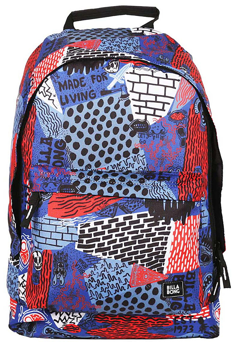 Рюкзак городской Billabong All Day, цвет: синий , 20 лU5BP01Практичный вместительный рюкзак, готовый вписаться в ваш стиль и вместить все ваши вещи, необходимые для учебы, работы или просто прогулок по городу. Этот классический рюкзак сочетает в себе утилитарный стиль и практичность в солидной цветовой гамме.Большое основное отделение закрывается на молнию. Имеются передний карман на молнии и регулируемые мягкие лямки.