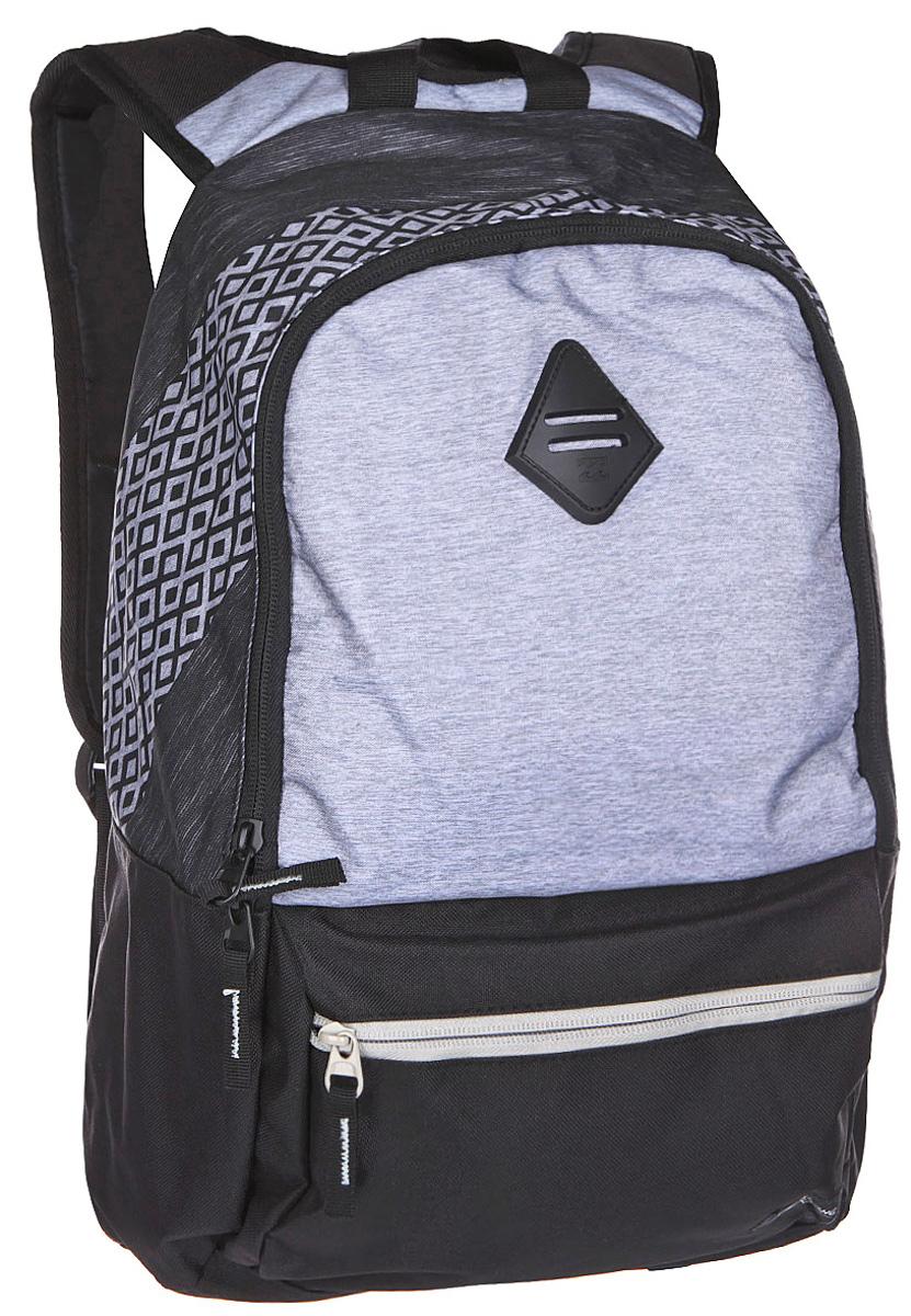 Рюкзак городской Billabong Atom, цвет: светло-серый , 20 лГризлиПрактичный рюкзак, простой, не громоздкий, но при этом достаточно вместительный. Внутренние карманы для ноутбука и документов позволят удобно разложить важнейшие вещи, не требуя большого количества отсеков рюкзака.