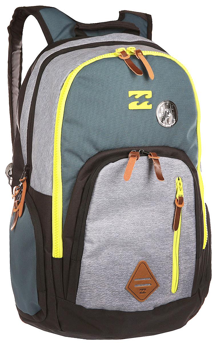 Рюкзак городской Billabong Command, цвет: стальной , 35 лГризлиПрактичный рюкзак, выполненный из износостойких материалов, готовый служить Вам долгое время, сохраняя презентабельный внешний вид. Множество отделений делаю его очень вместительным и позволяют раскладывать вещи так, как Вам удобно. Мягкие вставки на задней панели и эргономичные плечевые лямки