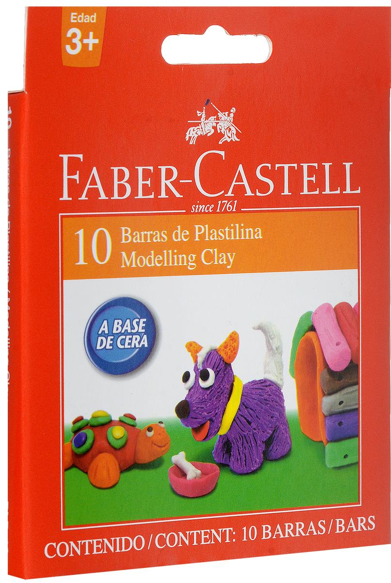 Faber-Castell Пластилин 10 цветов70/30U_коричневыйВ наборе Faber-Castell находится 10 брусков цветного пластилина.Пластилин обладает яркими цветами, безопасен при использовании, изготовлен на масляной основе, имеет мягкую и эластичную фактуру, не прилипает к рукам и не крошится.Набор пластилина откроет юным художникам новые горизонты для творчества, поможет отлично развить мелкую моторику рук, цветовое восприятие, фантазию и воображение.
