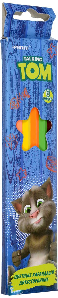 Proff Набор цветных двухсторонних карандашей Говорящий Том 6 шт127NC12P1Набор цветных двухсторонних карандашей ProffГоворящий Том наполнит творческую жизнь вашего ребенка яркими и необычными цветами.Карандаши имеют высококачественный ударопрочный грифель, легко затачиваются и подходят для любого вида точилок.В наборе 6 карандашей из 12 цветов.С таким замечательным набором ваш ребенок будет находиться всегда в хорошем настроении, и, не останавливаясь, идти по своему творческому пути.